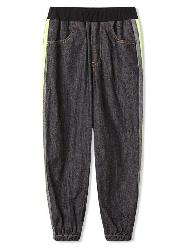 Latest Boys Side Striped Jogger Denim Pants