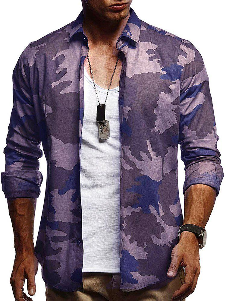 Store Camouflage Print Casual Long Sleeve Shirt