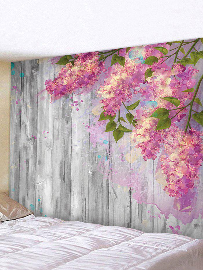 Unique 3D Digital Printing Paint Floral Wood Wall Tapestry