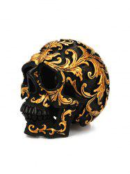 Halloween Desk Decoration Baroque Pattern Resin Skull -