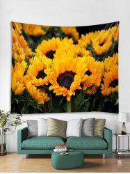 Sunflower Pattern Print Tapestry -