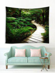 Forest Wood Path Pattern 3D Printing Tapestry -
