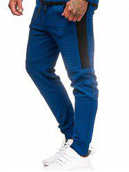 Color Block Spliced Drawstring Jogger Pants -