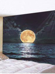 Moon Night Ocean Print Tapestry Wall Hanging Art Decoration -