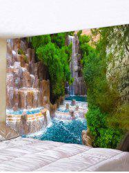 3D Natural Waterfall Print Art Decoration Wall Tapestry -
