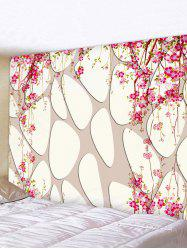 Flowers on Tree Print Art Decoration Wall Tapestry -