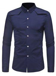 Solid Color Button Down Long-sleeved Base Shirt -