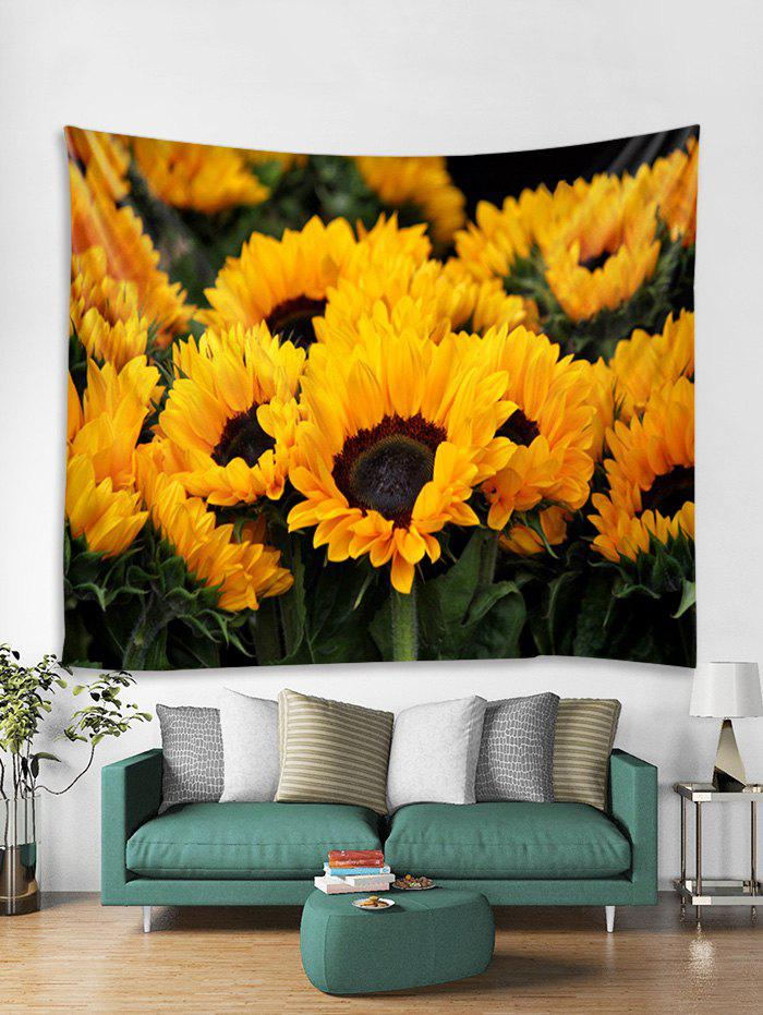 Discount Sunflower Pattern Print Tapestry