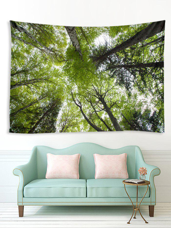 Trendy Forest Tree Sky 3D Print Wall Tapestry