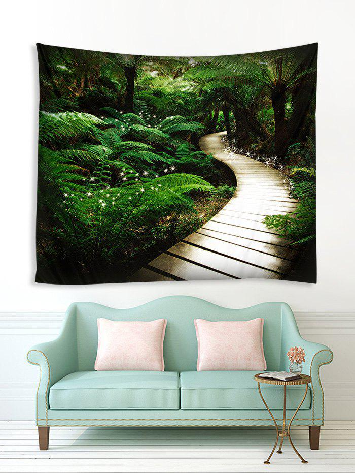 Affordable Forest Wood Path Pattern 3D Printing Tapestry