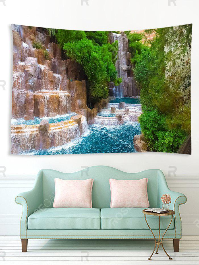 Unique 3D Natural Waterfall Print Art Decoration Wall Tapestry