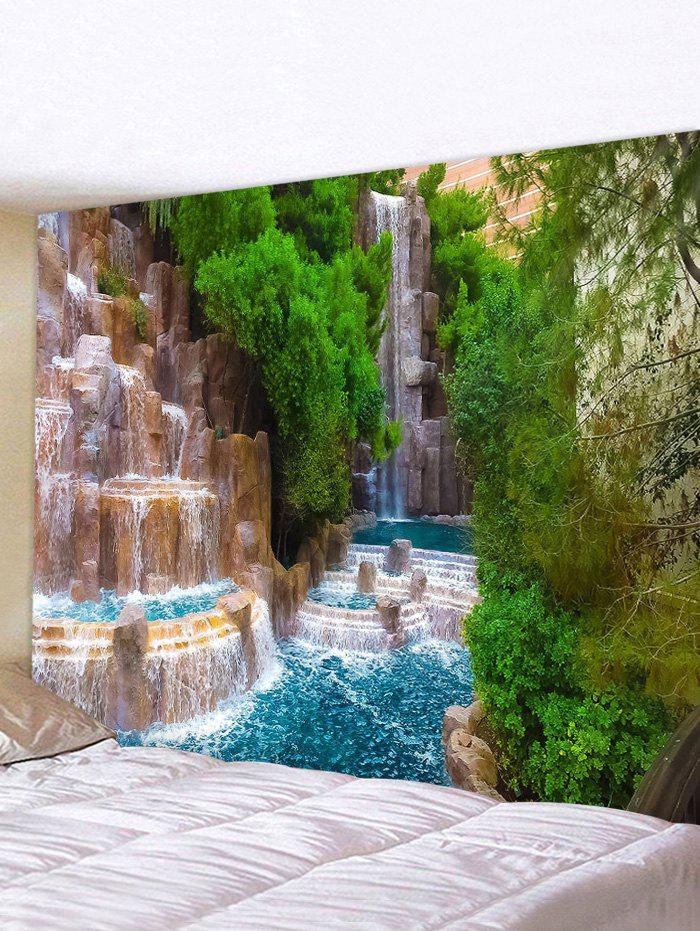 Discount 3D Natural Waterfall Print Art Decoration Wall Tapestry