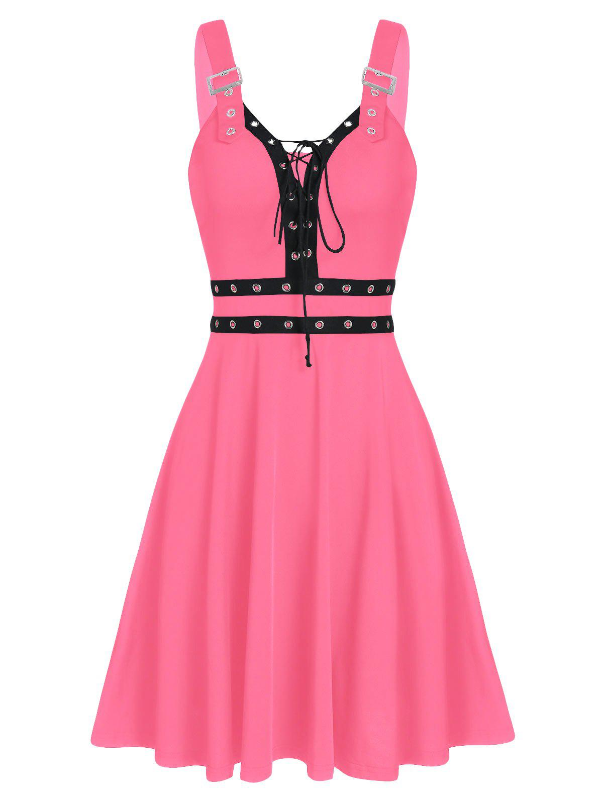 Online Sweetheart Collar A Line Rings Gothic Dress