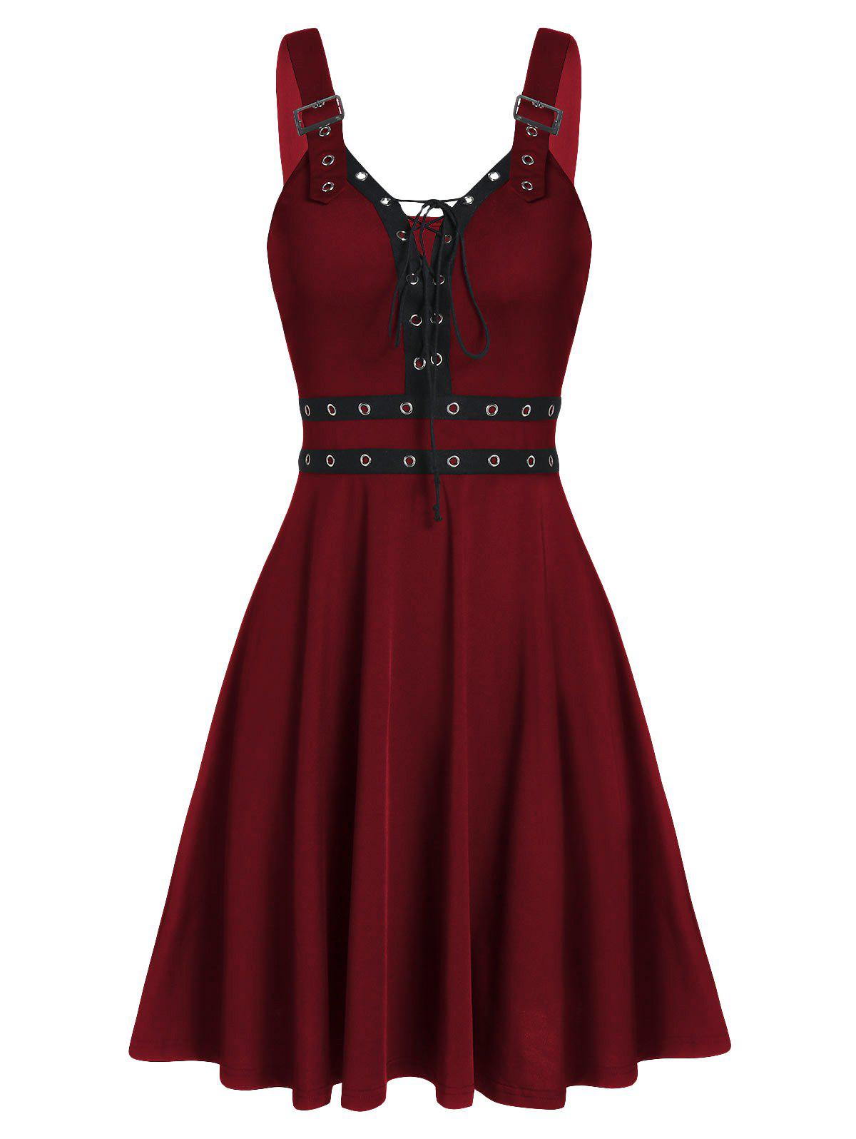 Fancy Sweetheart Collar A Line Rings Gothic Dress