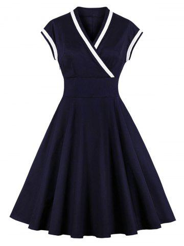 Fit and Flare Surplice Vintage Dress