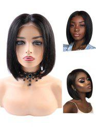 Short Middle Part Straight Bob Human Hair Lace Front Wig -