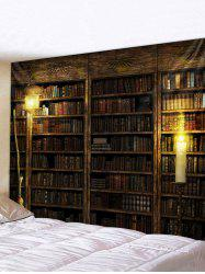 Vintage Bookcase Print Tapestry Wall Hanging Art Decoration -