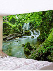 Forest Mossy Stream Print Tapestry Wall Art -