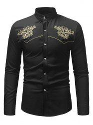 Star Embroidery Casual Long-sleeved Shirt -