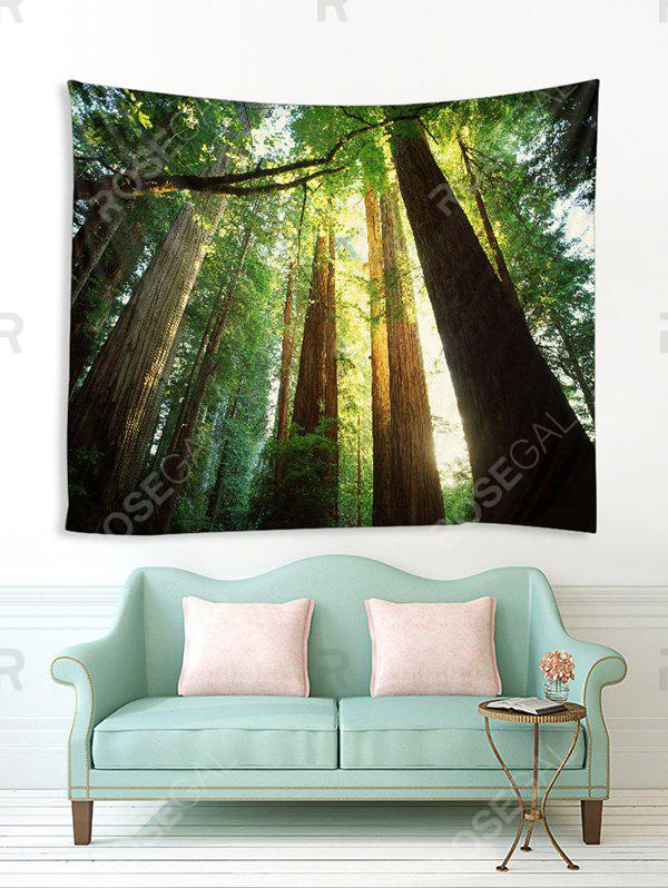 Hot Sunshine Forest Printed Tapestry Wall Hanging Art Decoration