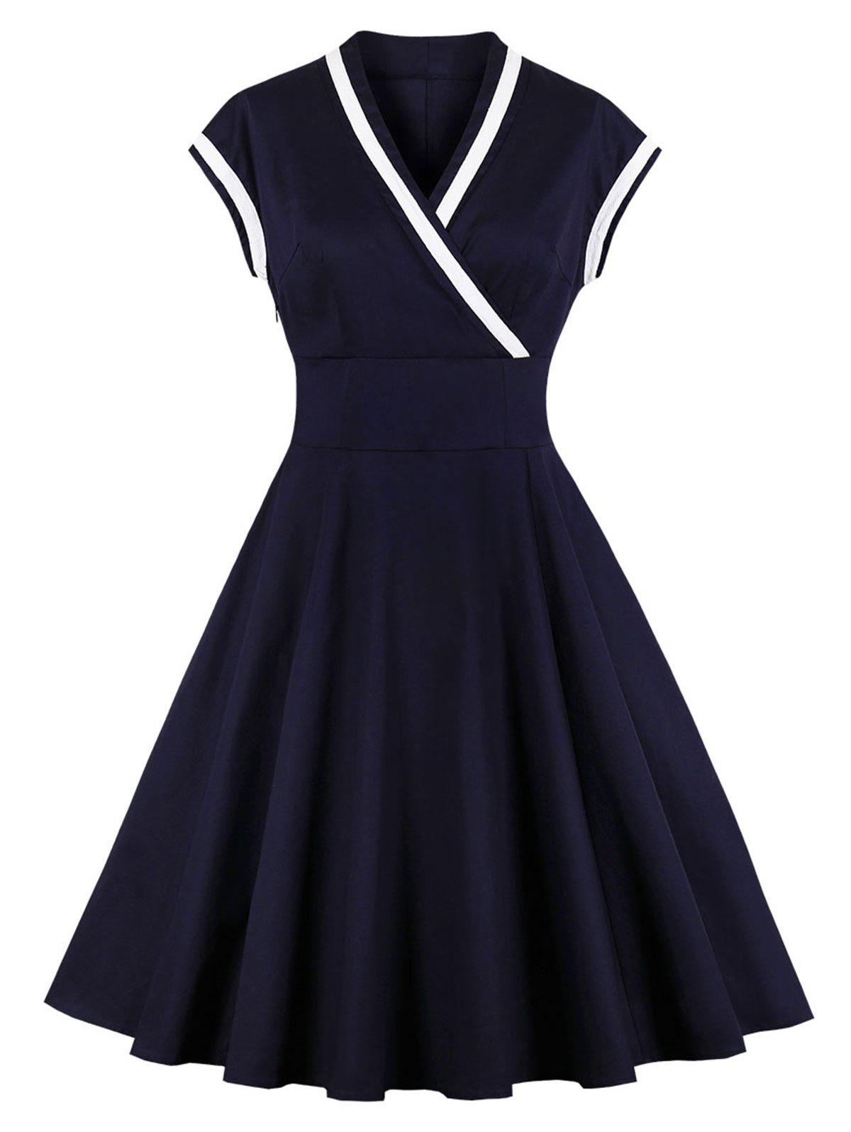 Store Fit and Flare Surplice Vintage Dress