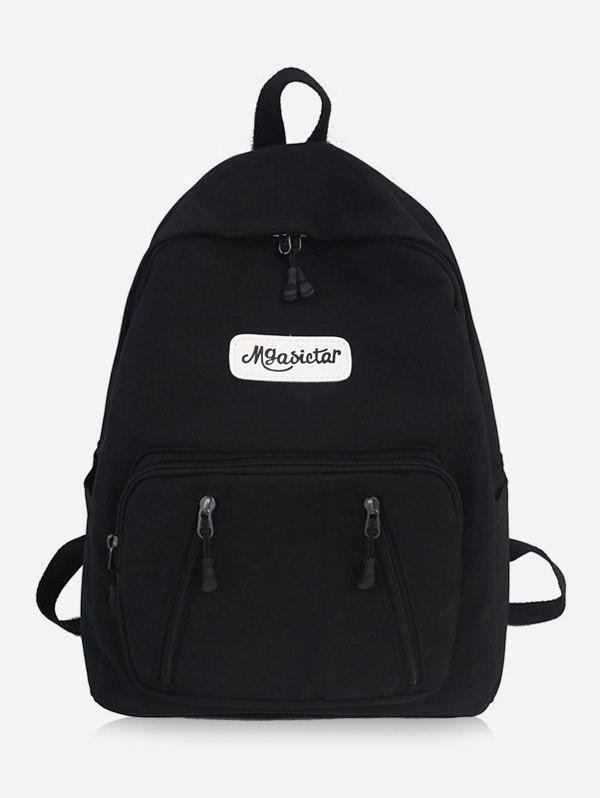 Fashion Nylon Solid Splice Letter Backpack