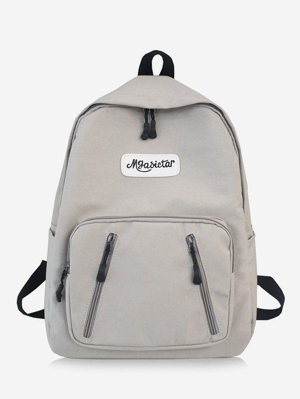 Sale Nylon Solid Splice Letter Backpack