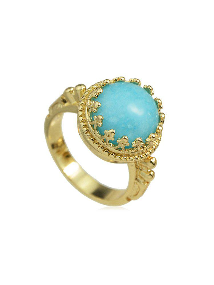 Outfit Vintage Artificial Gem Crown Ring