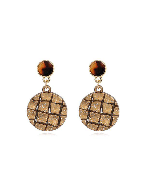 Latest Vintage Round Chocolate Biscuit Shape Earrings