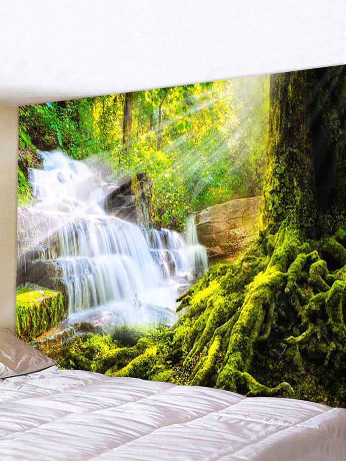 Chic Forest Cascade Scenery Print Home Decor Wall Art Tapestry