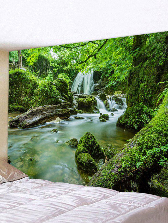 New Forest Mossy Stream Print Tapestry Wall Art