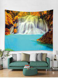 Waterfall Forest Landscape Print Wall Tapestry -
