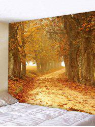 Sunset Forest Path 3D Print Wall Tapestry -