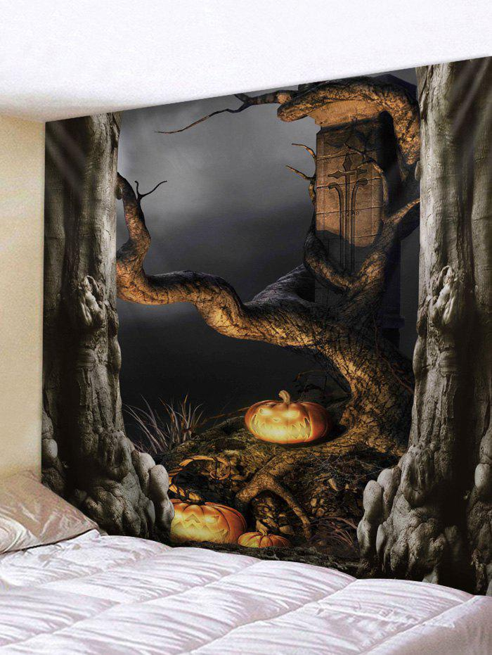 Shops Halloween Dead Tree Pumpkin lamp Print Tapestry