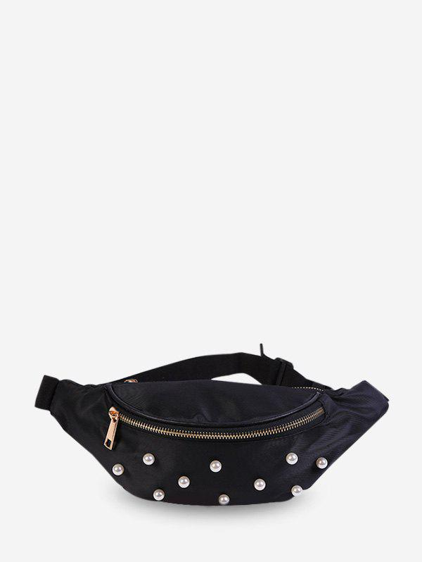 Shop Pearl Decorate Solid Waist Bag