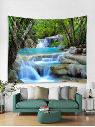 Forest Stream Pattern Print Tapestry -