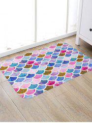 Mermaid Scales Printed Floor Mat -