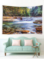 Forest Stream Printed Tapestry Wall Hanging Art Decor -