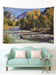 Stream Forest Pattern Print Tapestry -