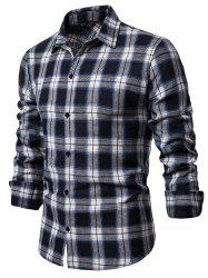 Leisure Plaid Print Button Up Shirt -