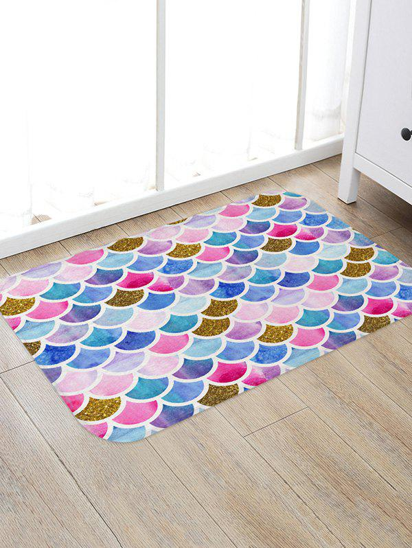 Affordable Mermaid Scales Printed Floor Mat