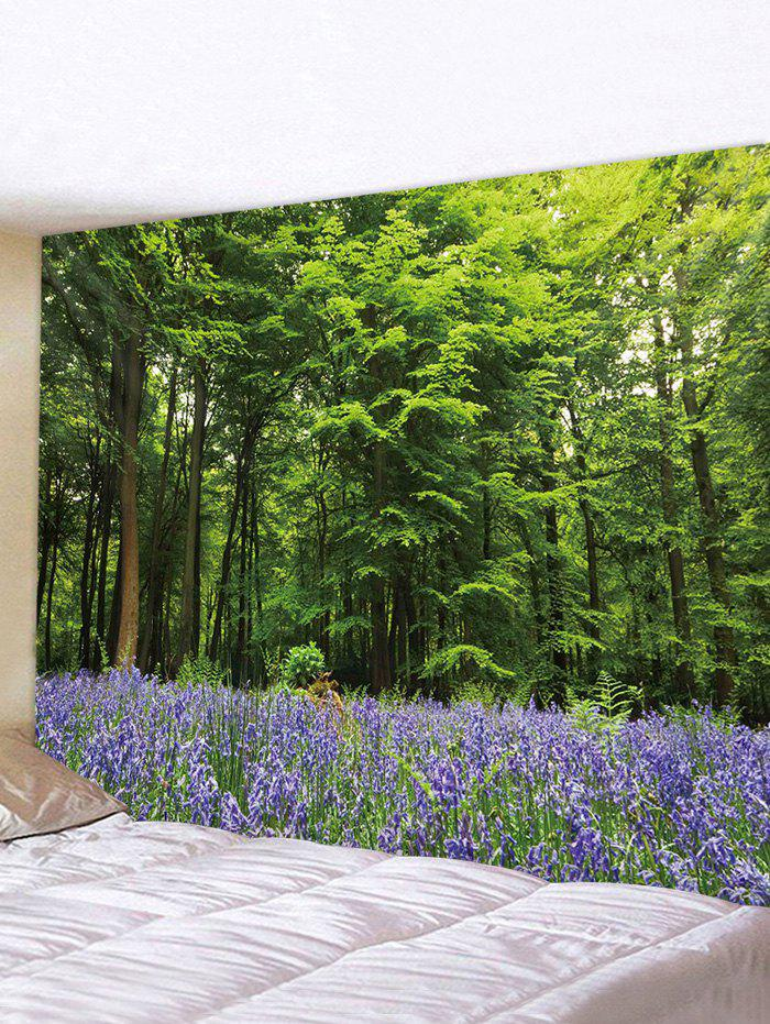 3D Forest Lavender Pattern Print Tapestry, Multi