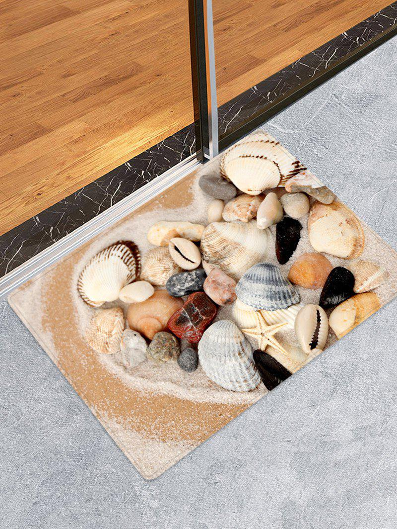 Affordable Beach Shell Printed Floor Mat