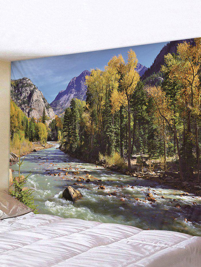 Online Stream Forest Pattern Print Tapestry