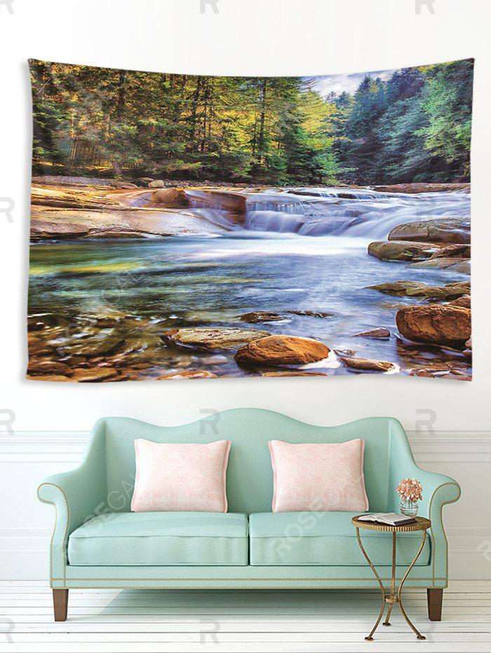 Buy Forest Stream Printed Tapestry Wall Hanging Art Decor
