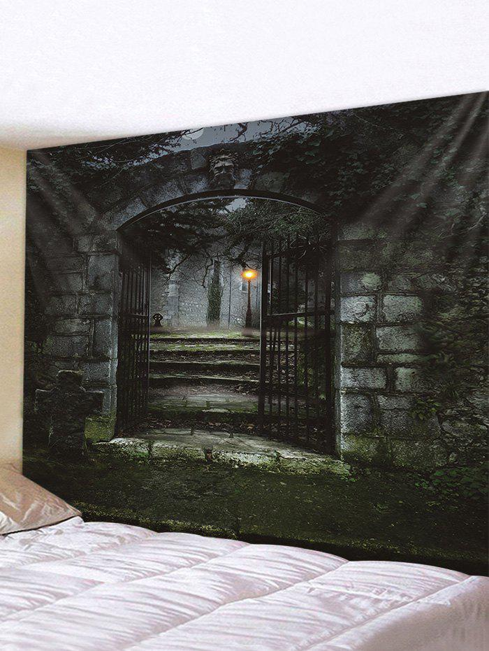 Halloween Night Gate Print Tapestry Wall Hanging Art Decoration, Multi