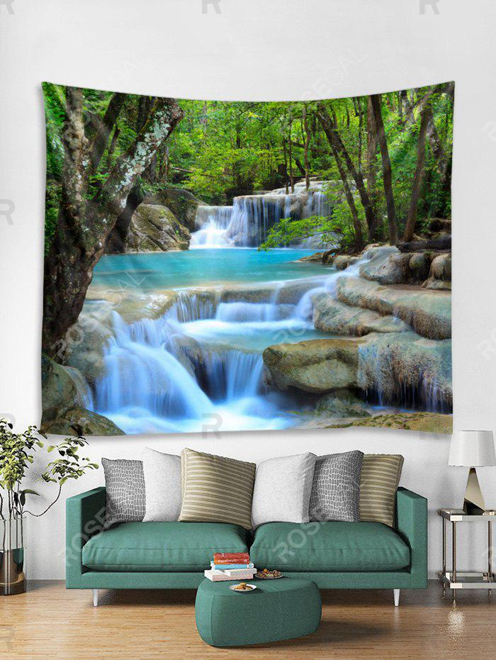 Fashion Forest Stream Pattern Print Tapestry