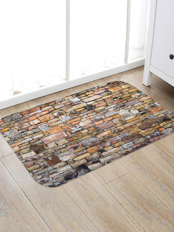 Trendy Brick Wall Printed Floor Mat