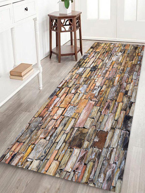 Affordable Brick Wall Printed Floor Mat