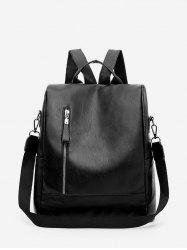 PU Leather Square Student Backpack -